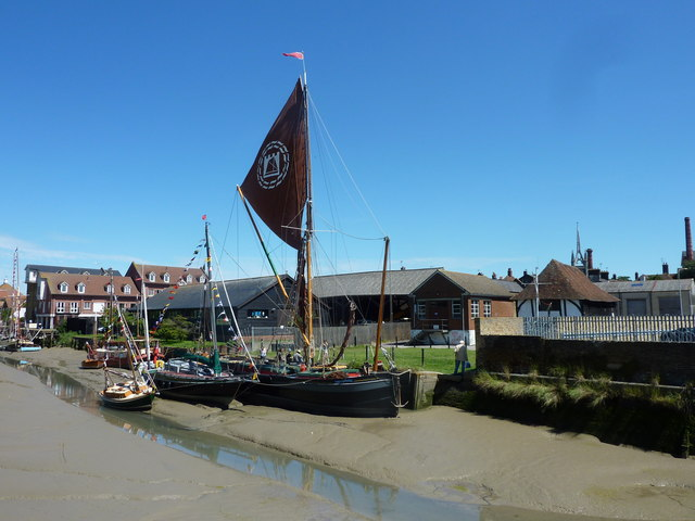 Faversham Creek at low tide