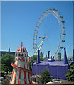 TQ3079 : Helter Skelter and the London Eye by Oast House Archive
