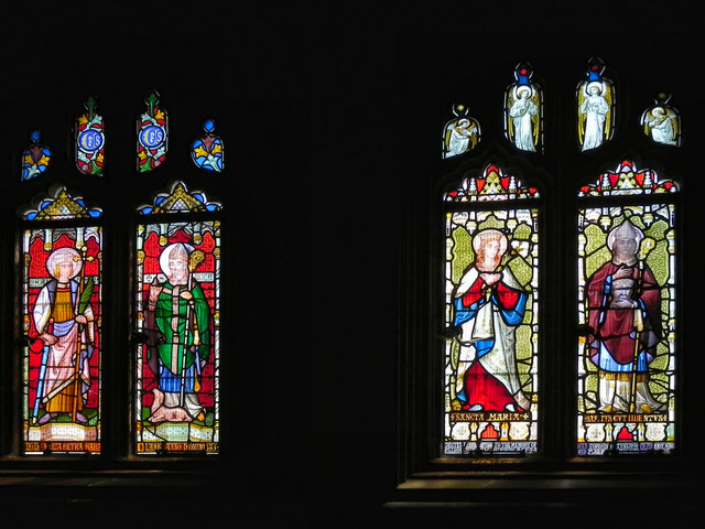 Stained Glass Windows, Tynemouth Priory Chapel