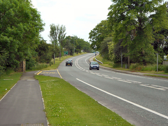 The A167 at Rushyford
