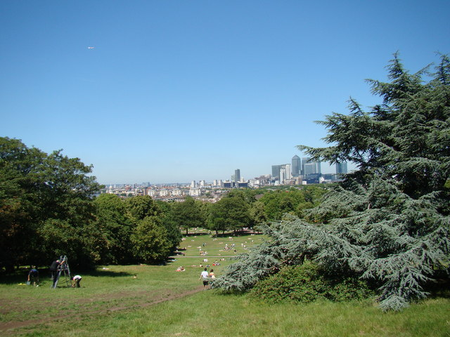 Panorama from the hill in Greenwich Park #3