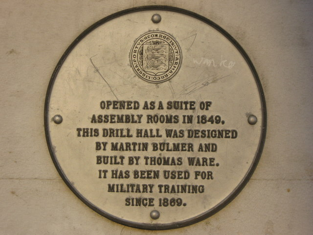 Plaque on Cadet Force building