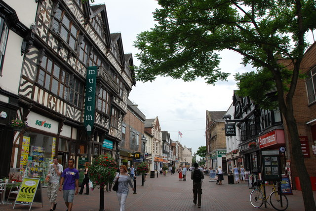 Looking up to the  Main Square, Stafford