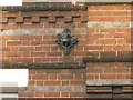 SU7173 : Metal Rosette on the former Cross Keys Pub, Reading by David Hillas
