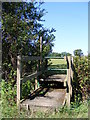 TL2664 : Footpath to Papworth Road by Adrian Cable