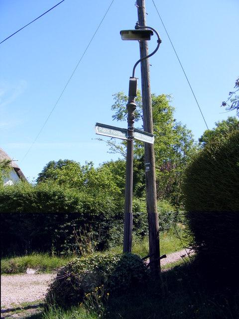 Lamp Post & Footpath signs