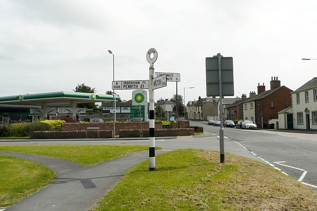 Road junction with pinfold