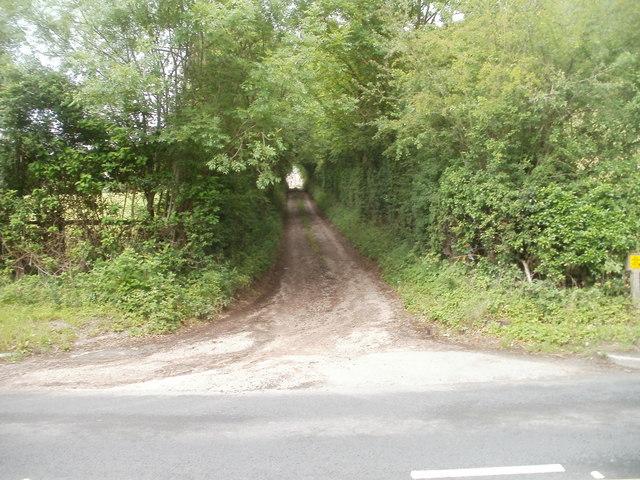 Access lane to Cydiad-y-ddwysir Farm near Glangrwyney