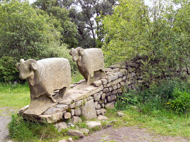 Pennine Way Sheep Sculpture