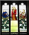 TQ3104 : Stained glass memorial window, St Peter Brighton by Josie Campbell