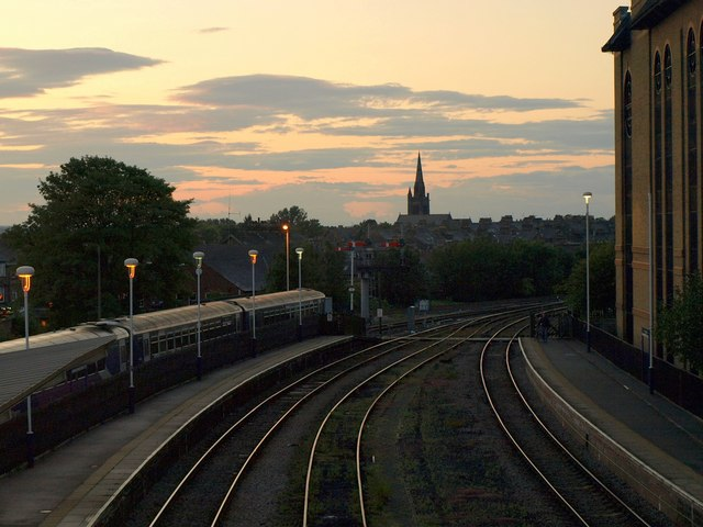 Sunset over Harrogate Station