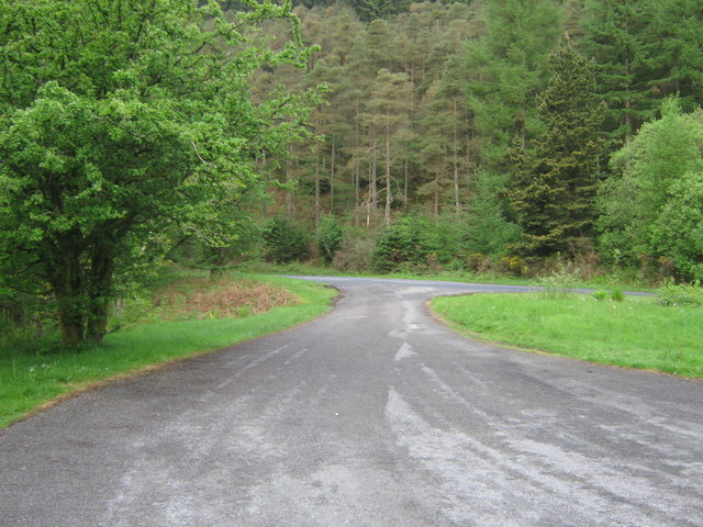 Exit from the car park at Glen of the Bar