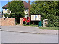 TL3163 : Telephone Box, Elsworth Village Notice Board &amp; Smith Street Postbox by Adrian Cable