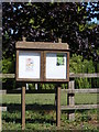 TL3163 : Elsworth Village Notice Board by Adrian Cable