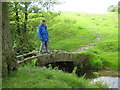 SJ9478 : Footbridge over Harrop Brook in Berristall dale by Peter Fleming