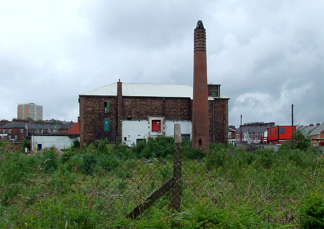 Derelict land east of Hanley, Stoke-on-Trent