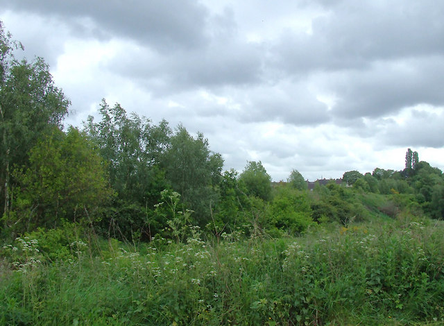 Course of disused railway near Bucknall, Stoke-on-Trent