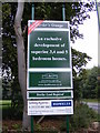TL7066 : New Housing Development at Kentford Manor sign by Adrian Cable