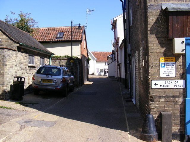 Back of Market Place, Saxmundham