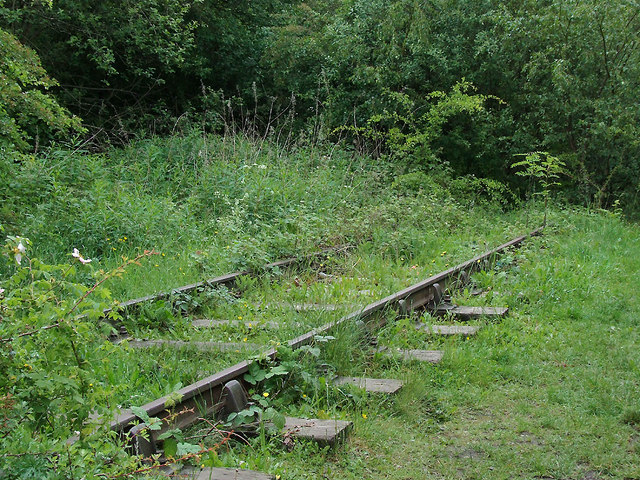 Disused railway north of Bucknall, Stoke-on-Trent