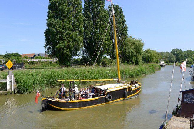 Boat on the River Stour, Sandwich, Kent