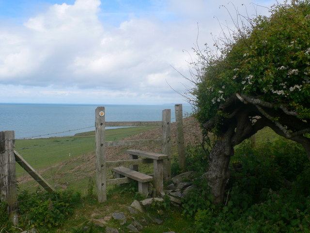 Stile on the Ceredigion Coast Path