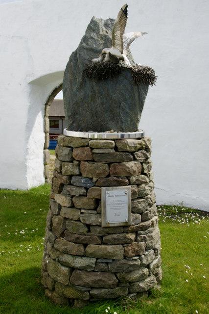 Bobby Tulloch memorial, Old Haa, Burravoe
