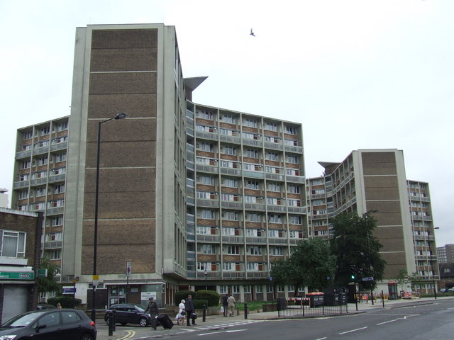 Blocks of flats, Lillie Road, Fulham