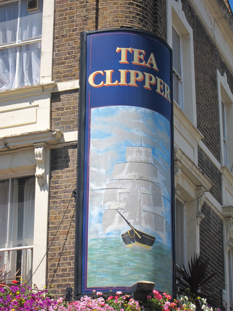 Tea Clipper sign
