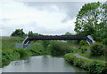 SJ8949 : Canal and pipe bridge south of Milton, Stoke-on-Trent by Roger  Kidd