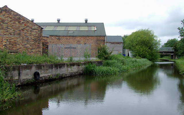 Canal and workshops near Milton, Stoke-on-Trent