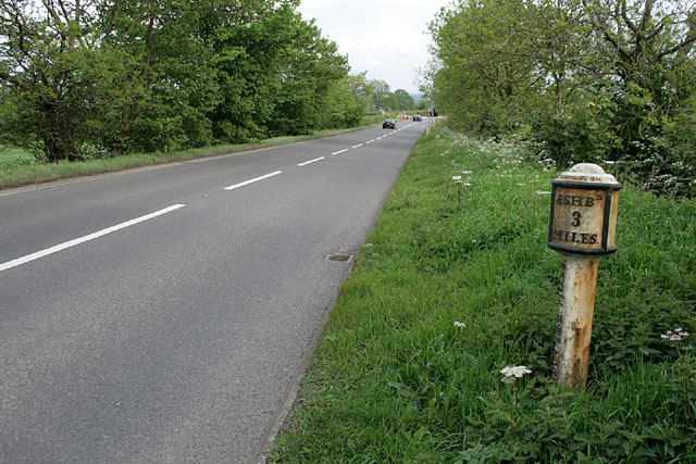 Milepost on the A52