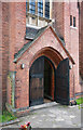 TQ3292 : St Aldhelm, Silver Street, Edmonton - West doorway by John Salmon