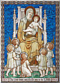 TQ2385 : St Gabriel, Walm Lane, Cricklewood - Mosaic in north chapel by John Salmon