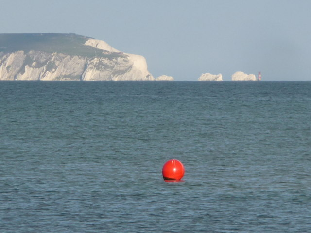 Mudeford: a bright red buoy