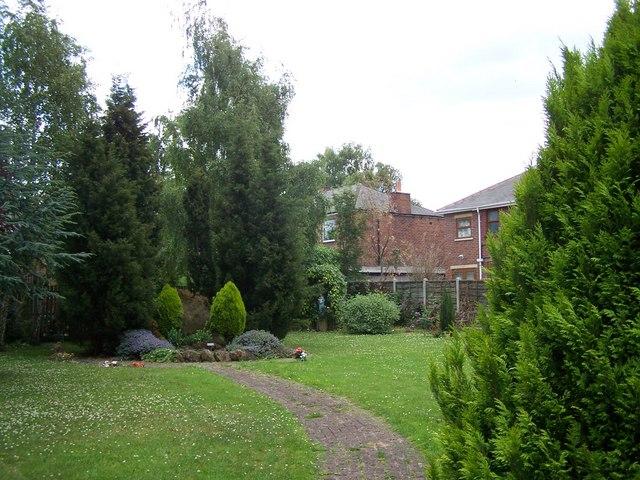 memorial garden at rear of st ignatius geoff pick