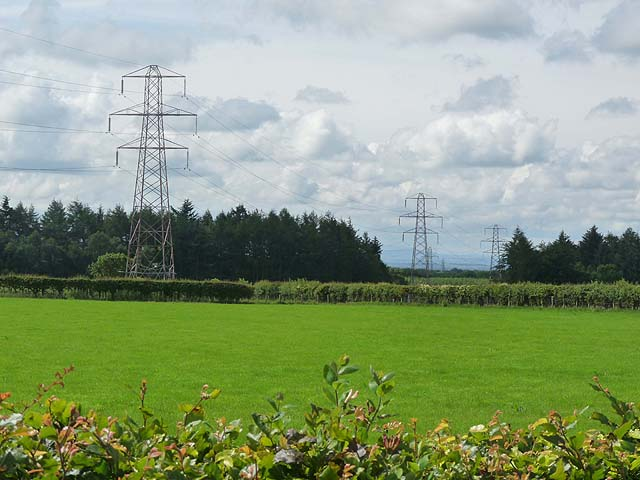 Power lines and Scot's Dike