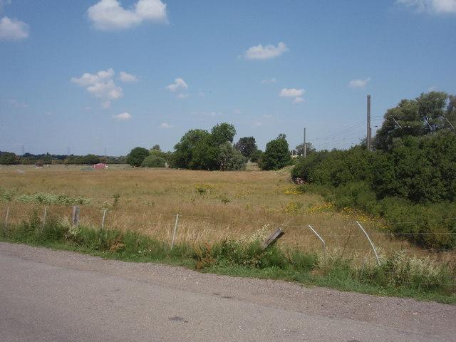 Field beside railway