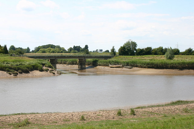 Confluence of River Great Ouse & Middle Level Main Drain