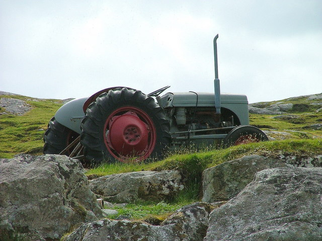 Old Ferguson tractor on Aird Mhighe