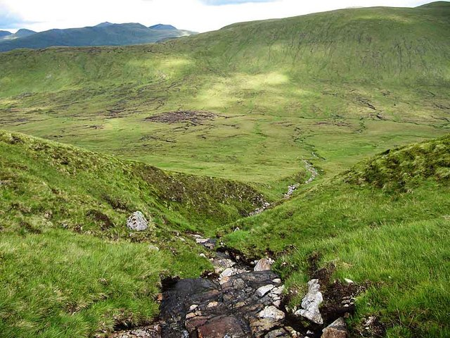 Looking down to Lairig Breisleich