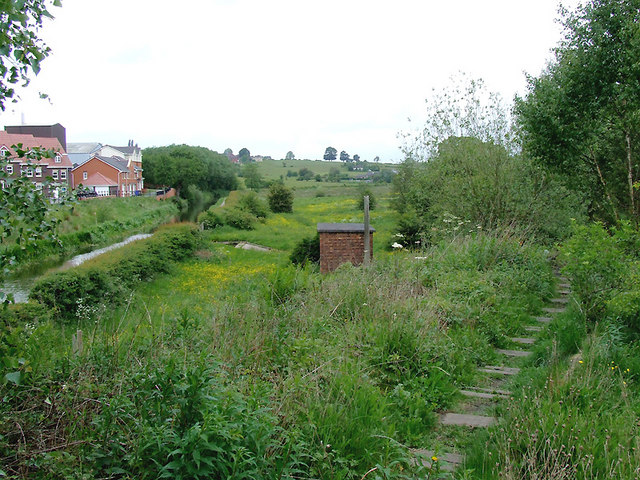 By the disused railway near Milton, Stoke-on-Trent