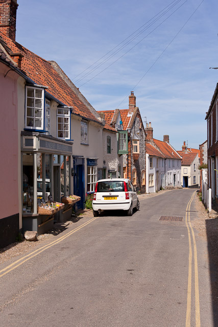 Looking down Blakeney High Street