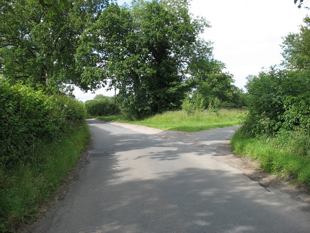 A minor road junction near Westonbirt