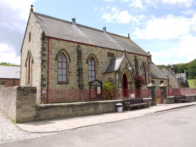 Reconstructed Pit Hill Wesleyan Chapel, Beamish Museum