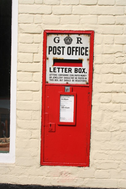 Post box on house, Church Street, North Creake