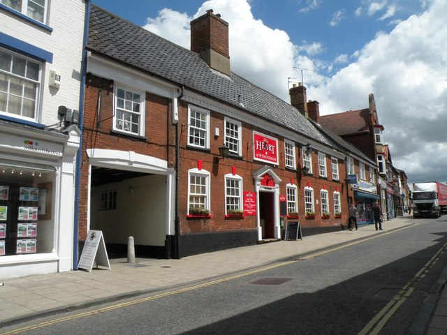 'The Heart of Wymondham' inn on Market Street