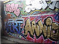 TQ3079 : Graffiti in Leake Street-The Tunnel by PAUL FARMER