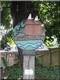 TQ6953 : Wateringbury Village Sign by David Anstiss