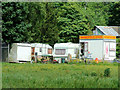 SJ9252 : Caravans and cafe near Stanley, Staffordshire by Roger  Kidd
